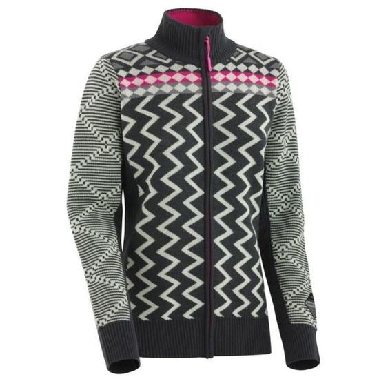 Wełnianny sweter Kari Traa Vinje F/Z Knit EBONY