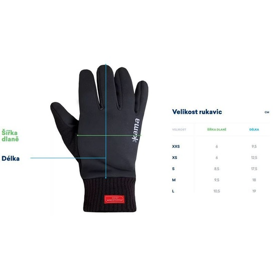Trykotowe Merino rękawice Kama R107 109