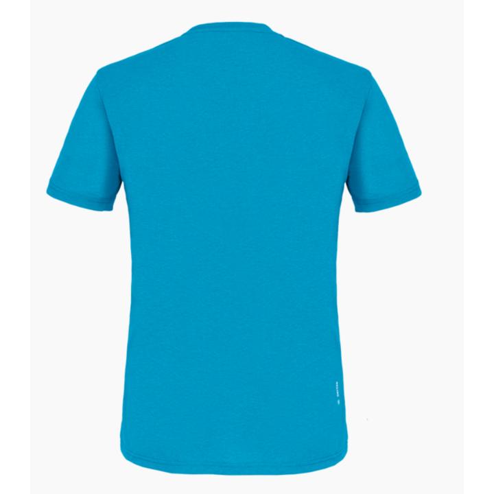 Koszulka męska Salewa Printed Skrzynka Dry niebieski Dunaj melanż 28259-8989