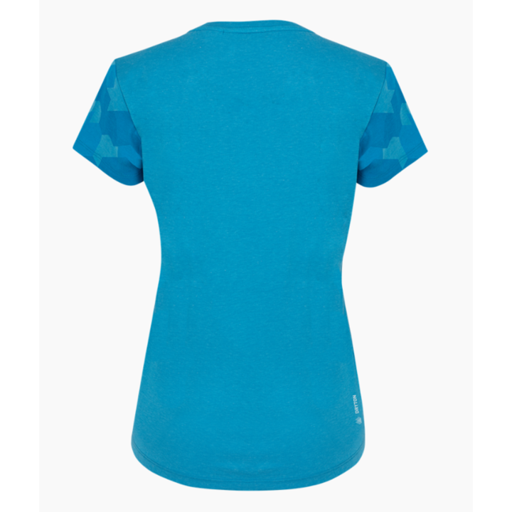 Koszulka damska Salewa Suchy rękaw kamuflażowy niebieski Dunaj melanż 28260-8989