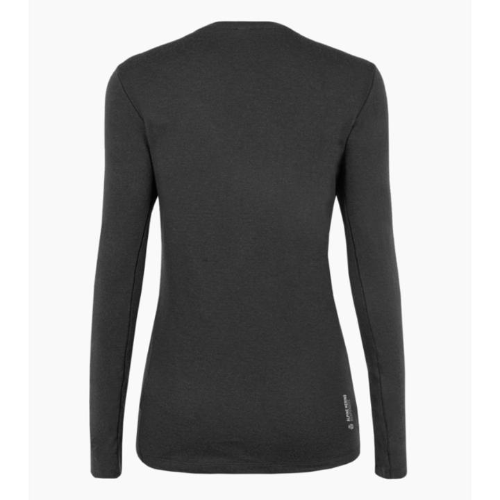Koszulka damska Salewa Czyste logo Merynos reagujący Koszulka z długim rękawem zaciemniać 28263-0910