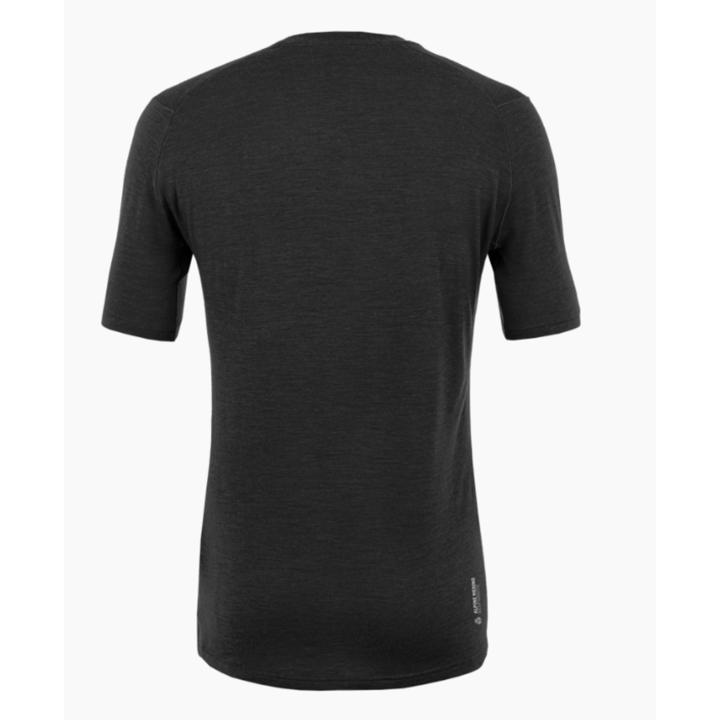 Koszulka męska Salewa Czysty logo merynos czuły zaciemniać 28264-0910