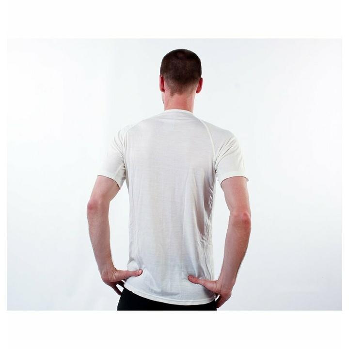Koszulka męska Devold Breeze Man T-shirt GO 180 211 A 000A biały