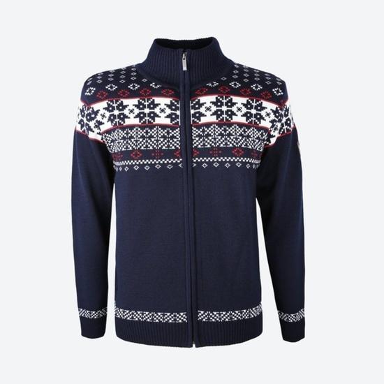 Merino Sweter Kama 4045 108 niebieska