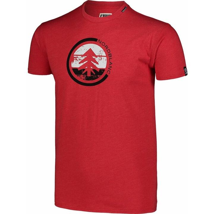 Męska koszula bawełniana Nordblanc TRICOLOR czerwone NBSMT7397_TCV