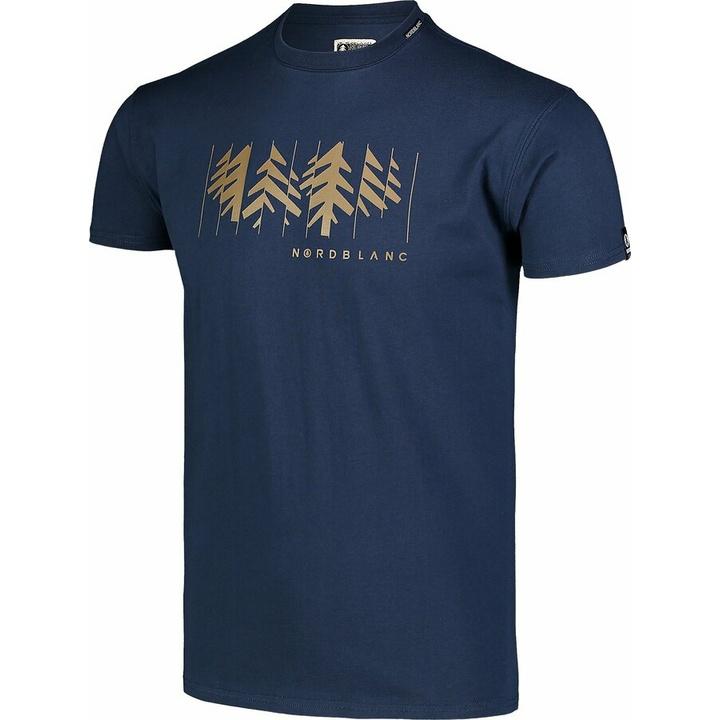 Męska koszula bawełniana Nordblanc DEKONSTRUKCJONOWANY niebieskie NBSMT7398_MOB