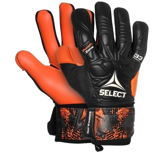 Bramkarzskie rękawice Select GK gloves 33 Allround Negative Cut czarno pomarańczowy