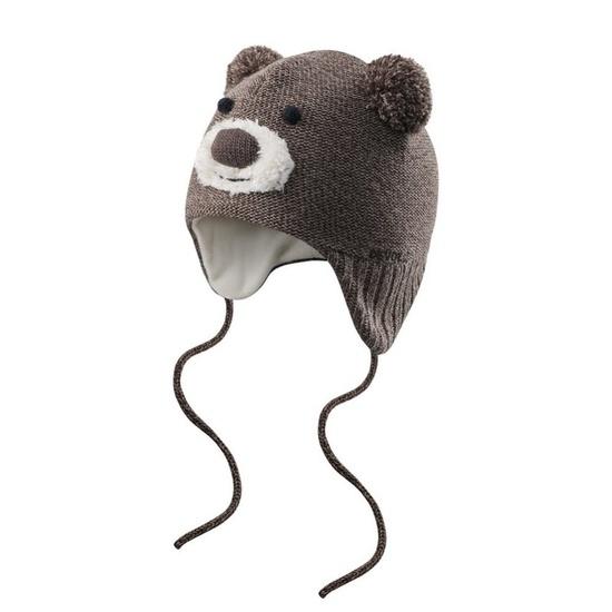Małe dzieci czapka Devold Bear Baby Beanie Brown GO 605 910 A 730A