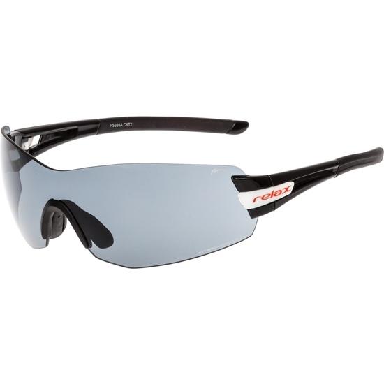Sportowe przeciwsłoneczne okulary Relax Sarnia czarne R5388A