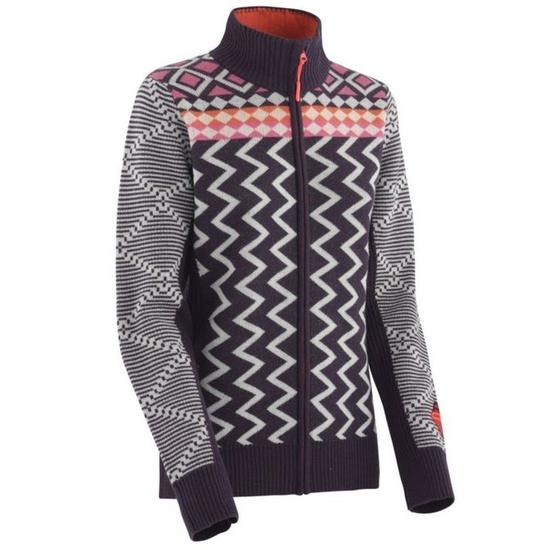 Wełnianny sweter Kari Traa Vinje F/Z Knit fiołkoworóżowy