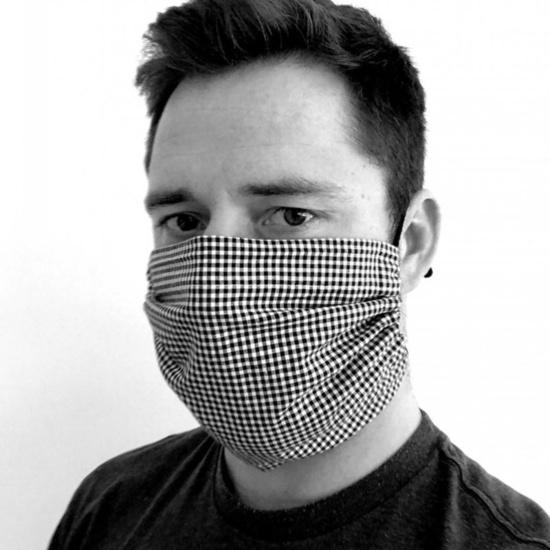 Bawełna maska KAMA z kieszenią do filtr