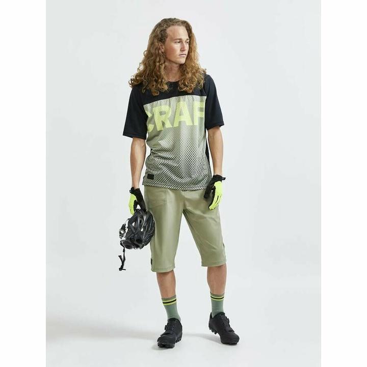 Męski koszulka rowerowa CRAFT CORE Offroad X 1910573-999635 czarny z zielony