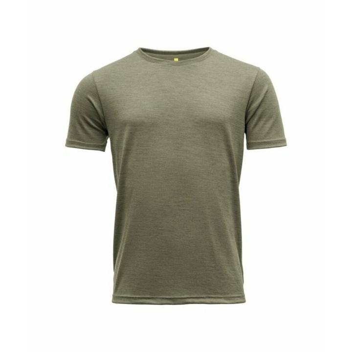 Koszulka wełniana męska z krótkim rękawem Devold Eika GO 181 280 B 404A zielona
