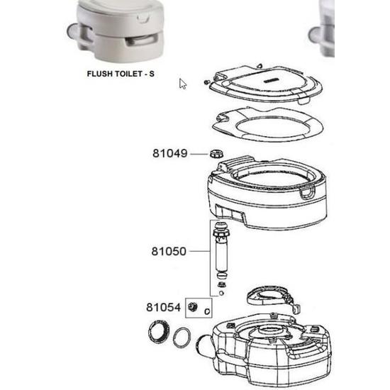 Zamienne uszczelka do pompy dla toaleta Campingaz Portable Flush Small 81054
