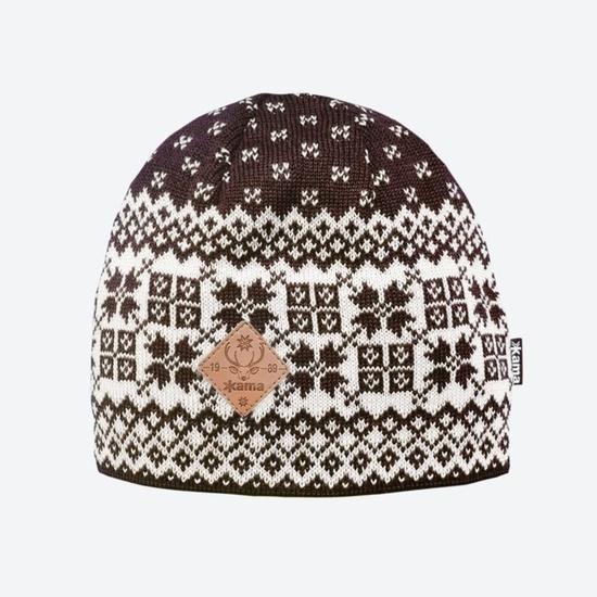 Dzianinowy Merino czapka Kama LA40 113
