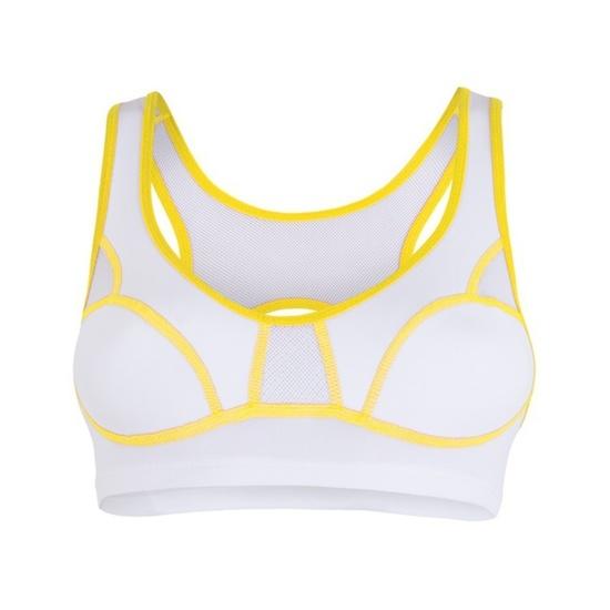 Damska biustonosz Sensor Lissa biały / żółty 1065532-61