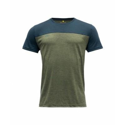 Koszulka wełniana męska z krótkim rękawem Devold Norang GO 180 213 B 404A zielona, Devold