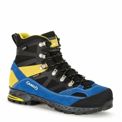 Męskie Botas AKU Trekker Pro GTX czarno / niebiesko / żółte