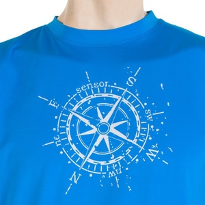 Męskie koszulka Sensor PT Coolmax Fresh Kompas niebieskie 16200005, Sensor