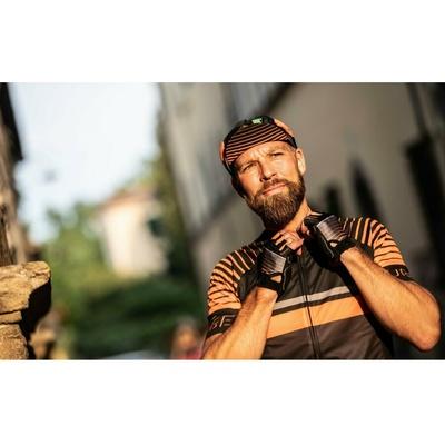 Rowerowa czapka z daszkiem pod kask Rogelli HERO, czarno-pomarańczowy 009.974, Rogelli