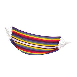 Hamak siatka Spokey SAMBA kolorowe pasy, 100 x 210 cm, Spokey