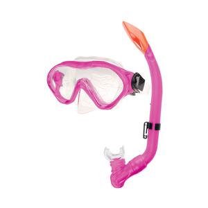 Zestaw + fajka okulary Spokey CAYMAN JUNIOR różowy, Spokey