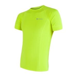 Męskie koszulka Sensor Coolmax Fresh żółty reflex 17100004, Sensor