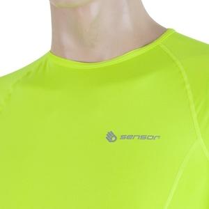 Męskie koszulka Sensor Coolmax Fresh żółty reflex 17100006, Sensor