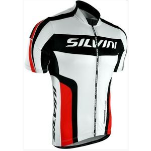 Męski rowerowy bluza Silvini LEMME MD603 white-red, Silvini