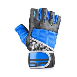 Fitness rękawice Spokey RAYO III czarno-niebieski, Spokey