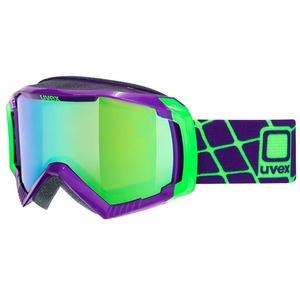 Narciarskie okulary Uvex G.GL 100, dark purpurowy / litemirror green (9926), Uvex