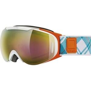 Narciarskie okulary Uvex G.GL 9 RECON READY, white-orange double obiektyw / litemirror gold (1126), Uvex