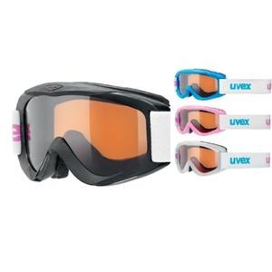 Narciarskie okulary Uvex ŚNIEŻNA PRO SET, białej ramce / czarny / iceblue / różowy, Uvex