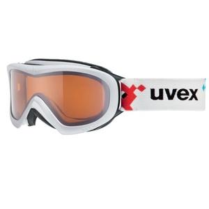Narciarskie okulary Uvex Wizzard DL, white pacman double obiektyw / lasergold (1022), Uvex
