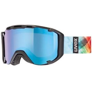 Narciarskie okulary Uvex SNOWSTRIKE PM, black mat double obiektyw / polavision litemirror niebieski / jasny (2226), Uvex