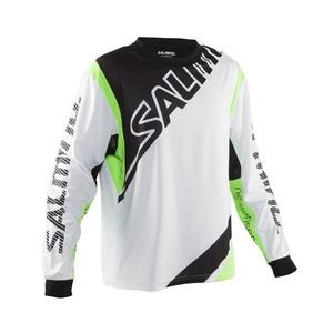 Bramkarzski bluza Salming Phoenix Goalie JSY SR Biały / GeckoGreen, Salming