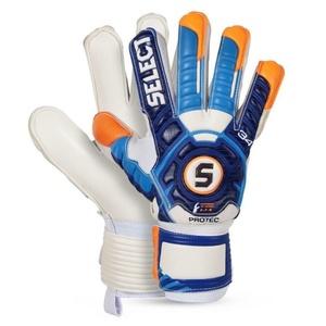 Bramkarzskie rękawice Select Goalkeeper rękawice 34 Protec biało niebieska, Select