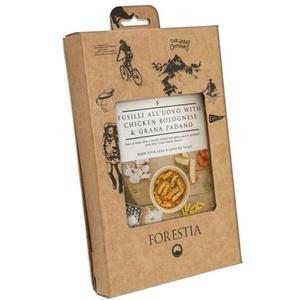 Jedzenie Forestia Fusili  all'uovo z kurczakiem w bolonia sosie z Grana padano (z podgrzewaczem), Forestia