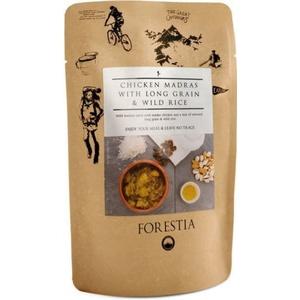 Jedzenie Forestia Kurczak Madras z długoziarnistą i dzikim ryżą z podgrzewaczem, Forestia