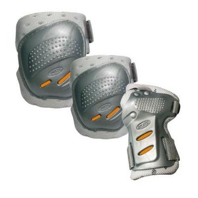Ochraniacze Tempish Cool Maxa 3 srebrny/pomarańczowy, Tempish
