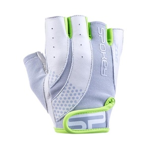 Damskie fitness rękawice Spokey ZOE II biało-limetkowy, Spokey
