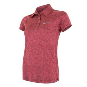 Damskie koszulka Sensor MOTION polo krótki rękaw różowa, Sensor