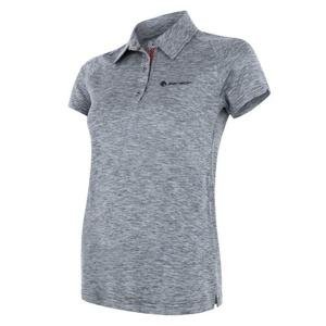 Damskie koszulka Sensor MOTION polo krótki rękaw siwy, Sensor