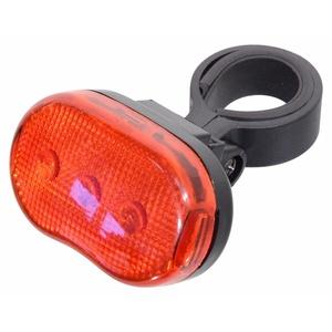 Oświetlenie rowerowe Compass Back 3LED czerwone 3 funkcje, Compass