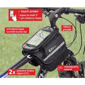 Torba na rower ponad rama dwustronna + PHONE Compass, Compass