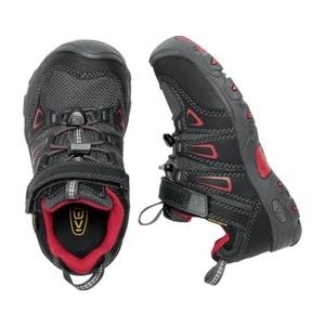 Dziecięce buty Keen OAKRIDGE LOW WP K, czarny / tango, Keen