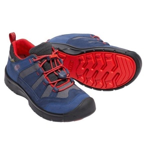 Dziecięce buty Keen Hikeport WP Jr, dress blues / firey red, Keen