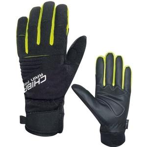 Zimowe rękawice Chiba Rain Touch, czarny odblaskowy żółty 3120018.1003, Rogelli