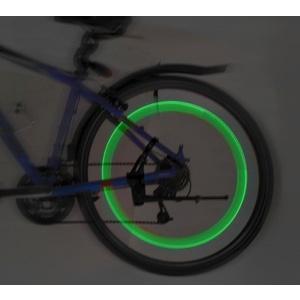Świecący zawór do rower LED 2ks Compass Green, Compass