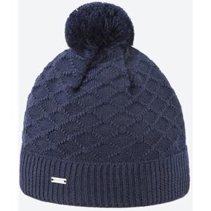 Dzianinowy Merino czapka Kama A124 108 ciemno niebieska, Kama